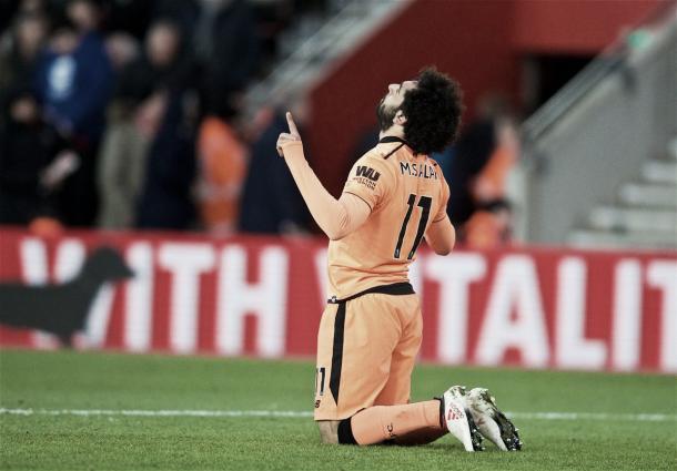 Salah alcanzó los 22 goles con la camiseta del Liverpool. Foto: Liverpool.