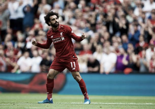 Celebración de Salah | Twitter Liverpool