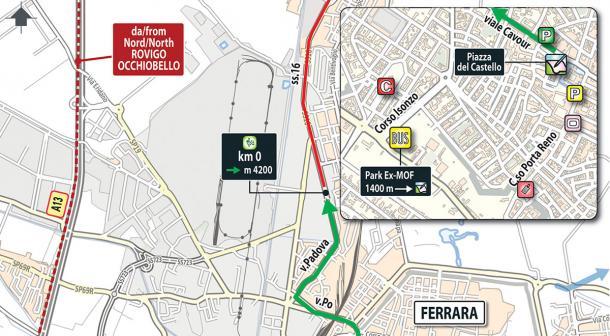 Salida etapa 13 Giro de Italia: Ferrara - Nervesa della Battaglia | Foto: Giro de Italia