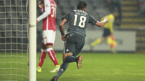 Salvio celebra su gol | Foto: SL Benfica