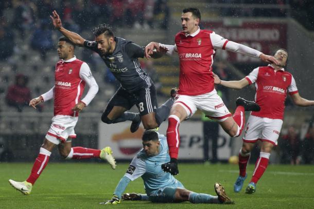 Momento del gol de Salvio | Foto: SL Benfica