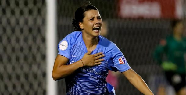 Sam Kerr is nominated for two awards | Source: chicagoredstars.com