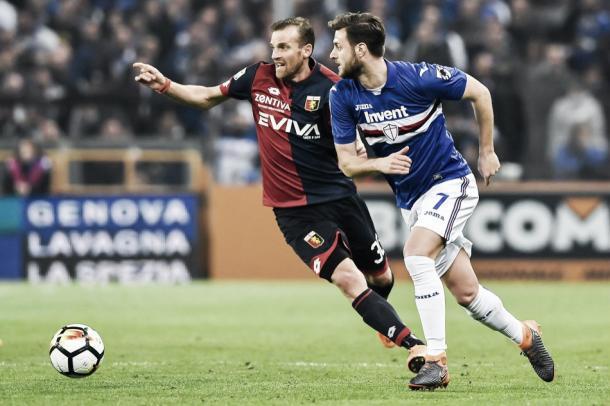 Imagen del último partido de la Sampdoria. Foto: UCSampdoria.com