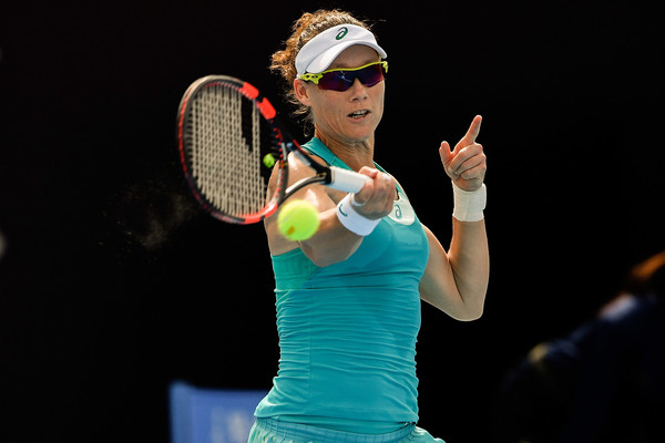 Samantha Stosur in action at the China Open | Photo: Etienne Oliveau/Getty Images AsiaPac