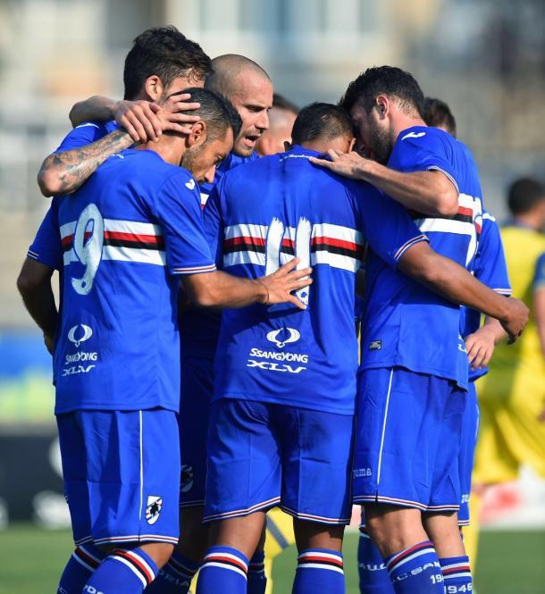 La Sampdoria in amichevole con il Chievo, twitter @sampdoria