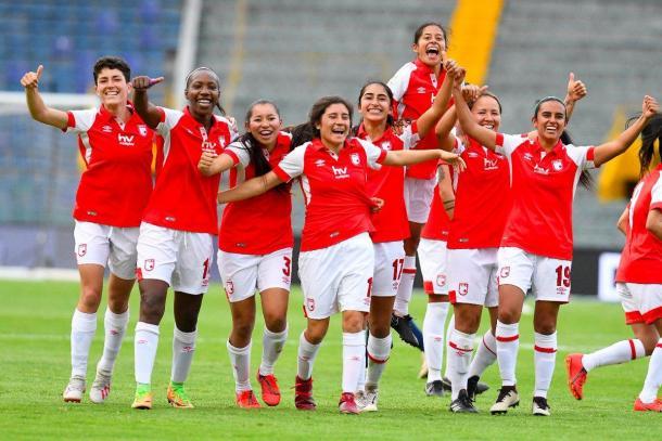 Momento de la clasificación a cuartos de final de la Liga Aguila femenina. Imagen: Dimayor.