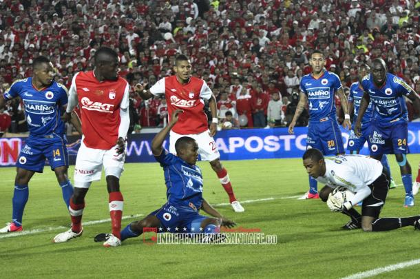Final de la Liga 2012-1 entre Santa Fe y Deportivo Pasto. Foto: Independiente Santa Fe.