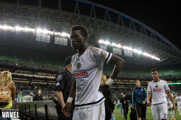 Sapong scored the equalizer in his first start of the season.
