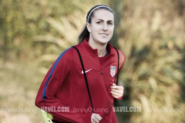Sarah Killion is one of the uncapped midfielders in camp (Photo: Vavel.com/Jenny Chuang)