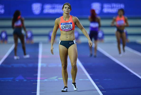 Dafne Schippers at an Indoor event in Glasgow earlier this year (Getty/Dan Mullan)