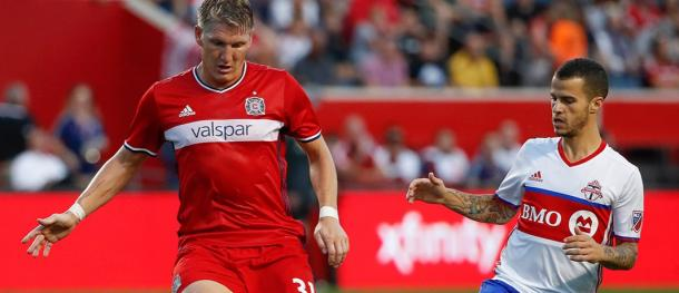 Bastian Schweinsteiger was unable to dictate things from midfield tonight | Source: Kamil Krzaczynski-USA TODAY Sports