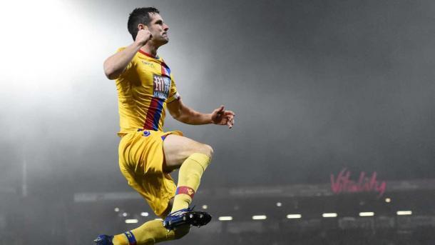 Scott Dann abrió el marcador en el último encuentro entre ambos equipos | Fotografía: Crystal Palace