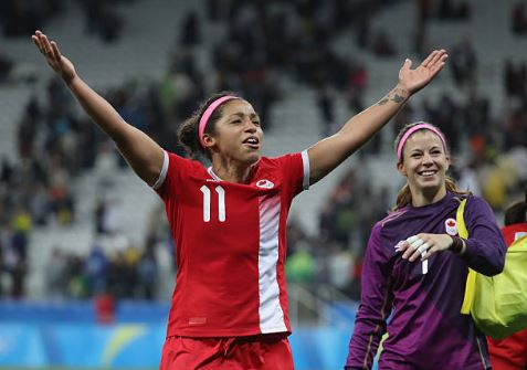 Desiree Scott will get to play in front of her hometown of Winnipeg in the first game against Costa Rica | Source: Robert Cianflone - FIFA - FIFA via Getty Images