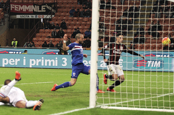 Milan in control.