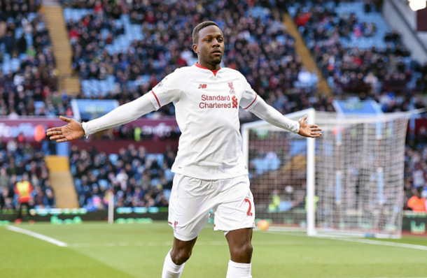 Origi celebrates his goal at Villa, his second in the league and fifth overall. (Picture: Getty Images)