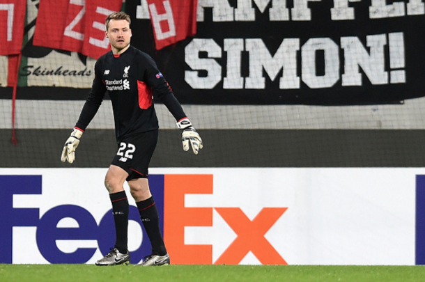 Mignolet in Augsburg on Thursday evening. (Picture: Getty Images)