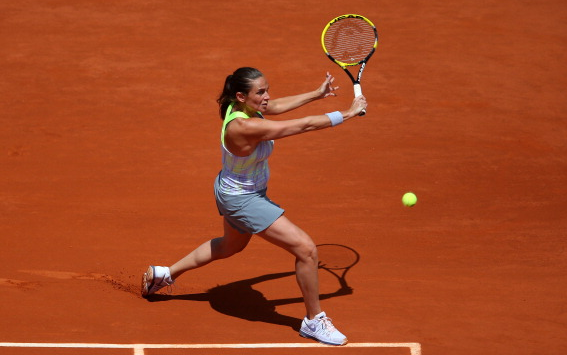 Roberta Vinci during the 2013 French Open. Source:Getty Images/Julian Flnney