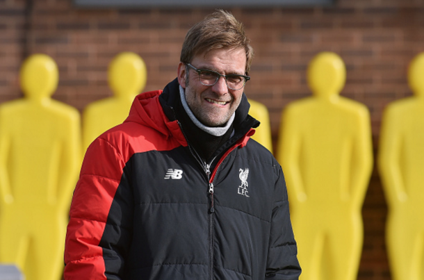 Klopp at Melwood on Friday morning during Liverpool's training session. (Picture: Getty Images)