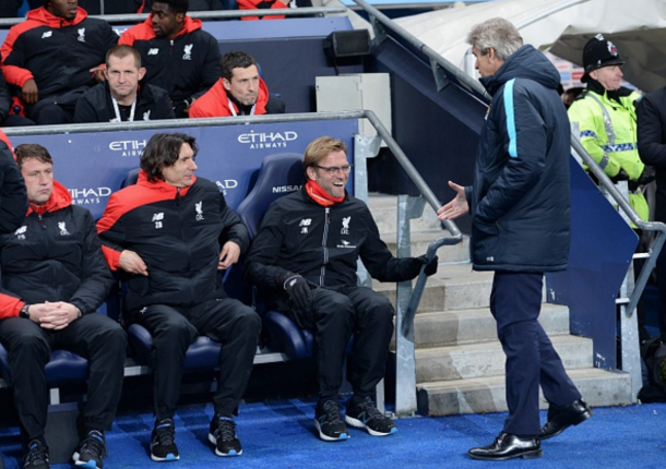 Klopp has never lost to Pellegrini - winning twice and drawing once. (Picture: Getty Images)