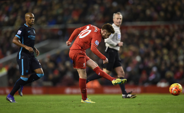 Lallana's speculative strike from fully 25-yards opened the deadlock before the half-hour mark. (Picture: Getty Images)