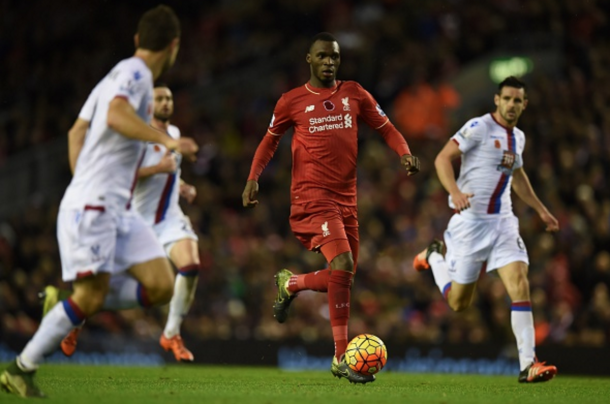 Benteke in action against Palace in the previous meeting between the two in November. (Picture: Getty Images)