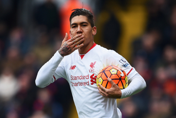 Firmino celebrates his equaliser. (Picture: Getty Images)