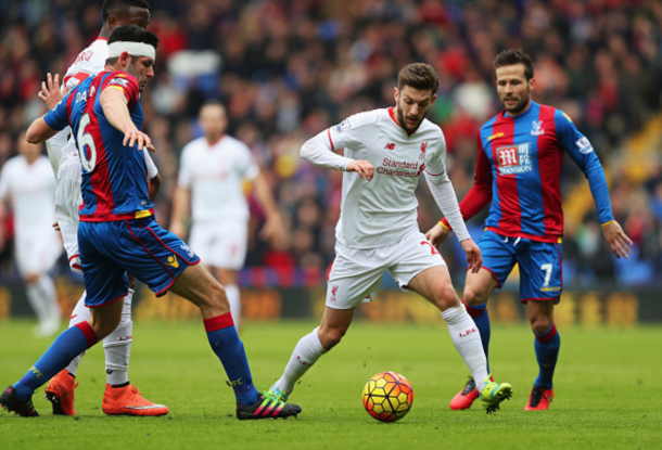 Adam Lallana wriggles free of his marker in the first-half. (Picture: Getty Images)