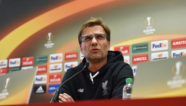 Klopp addresses the media. (Picture: Getty Images)