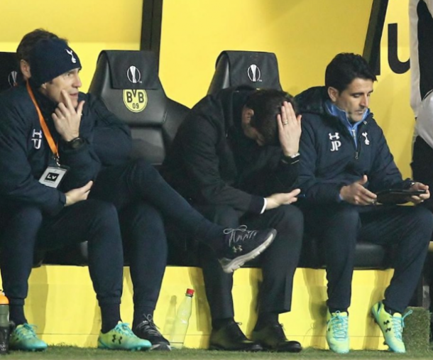 A disappointed Pochettino. (photo: telegraph)