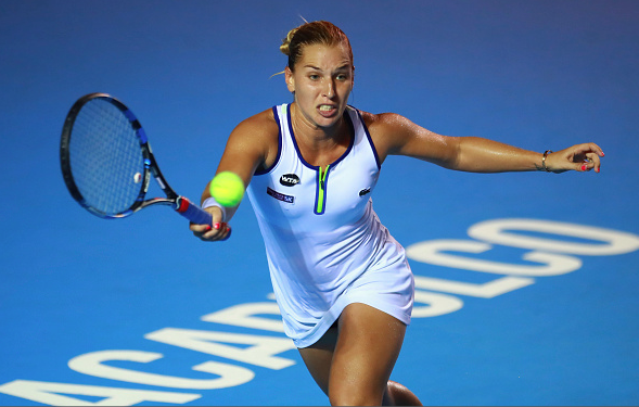 Dominica Cibulkova during her run to the Acapulco Finals. Photo:Getty Images/Miguel Tovar/STF