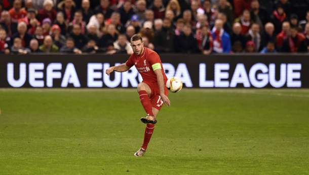 Henderson captained the Reds to a vital first-leg victory over United at Anfield. (Picture: Getty Images)