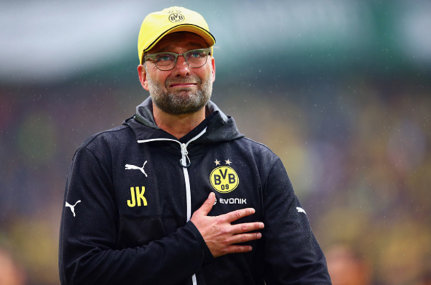Klopp bid an emotional farewell to the Dortmund fans back in May. (Picture: Getty Images)