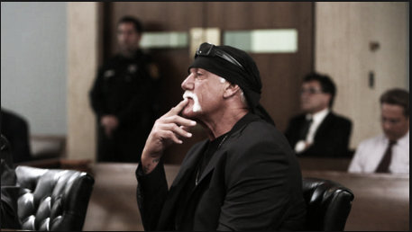 Hulk Hogan in the courtroom during the lawsuit trial (image: redeyechicago.com)