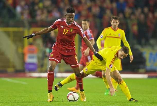 Origi, pictured playing against Wales earlier this season, has also had to drop out of the Belgium squad. (Picture: Getty Images)