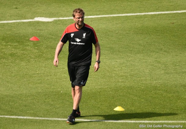 Klopp takes training in Tenerife. (Picture: Sir Old Golfer Photography)
