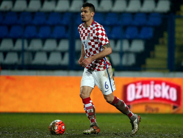 Lovren in action for Croatia against Israel. (Picture: Getty Images)