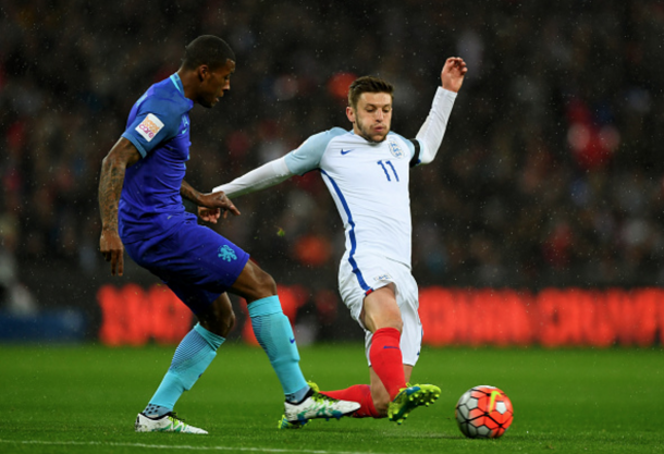 Lallana was bright and lively, playing his part in England's goal in his 70-minute cameo. (Picture: Getty Images)
