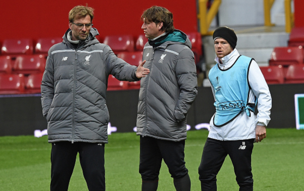 Moreno pulled up in an open training session at Old Trafford the evening before their clash. (Picture: Getty Images)