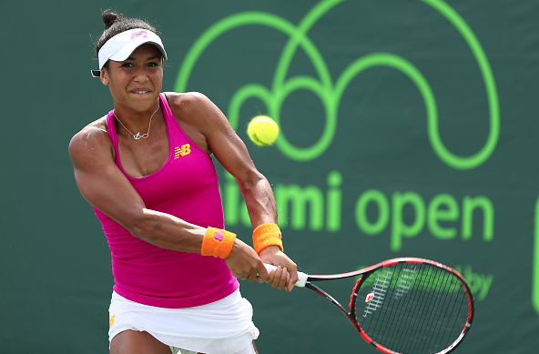 Heather Watson during the Miami Open. Source:Getty Images/Clive Brunskill