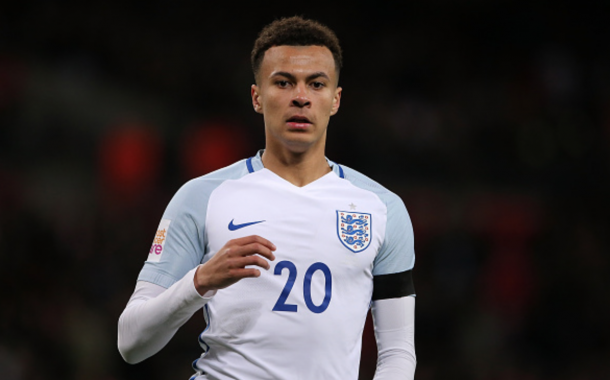 Dele Alli of England looks on during the International Friendly match between England and the Netherlands at Wembley Stadium on March 29, 2016 in London, England. (Photo by Matthew Ashton - AMA/Getty Images)