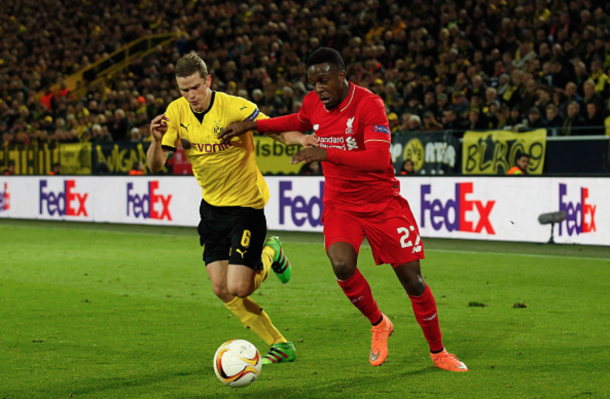 Origi battled hard throughout, contributing an industrious performance up top. (Picture: Getty Images)