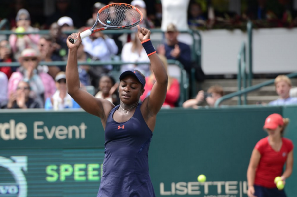 Sloane celebrating her win. Source: Christopher Levy