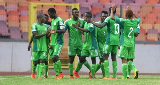Nigeria's U-23 side celebrating: Olisa.com