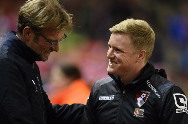 Klopp and Howe have already gone up against each other once, with Liverpool beating Bournemouth 1-0 in the Capital One Cup back in October, the German's first win since arriving at Anfield earlier in the month. (Picture: Getty Images)