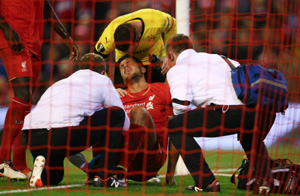 Can went off late on against Dortmund with his ankle ligament problem. (Picture: Getty Images)