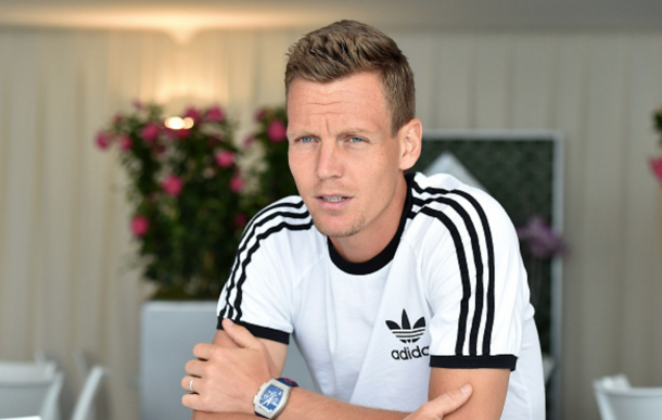 Thomas Berdych of Czech Republic speaks with journalist during media day during day One of the ATP Monte Carlo Masters, at the Monte-Carlo Country Club on April 10, 2016 in Monte-Carlo, Monaco. (Photo by Valerio Pennicino/Getty Images)