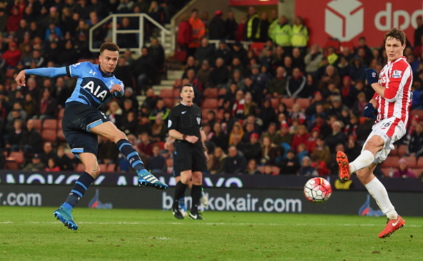 Alli was one of Spurs' best players, scoring twice on the night. (Picture: Getty Images)