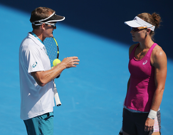 Stosur with David Taylor at the Australian Open.  Photo Courtesy: Getty Images Sport | Michael Dodge