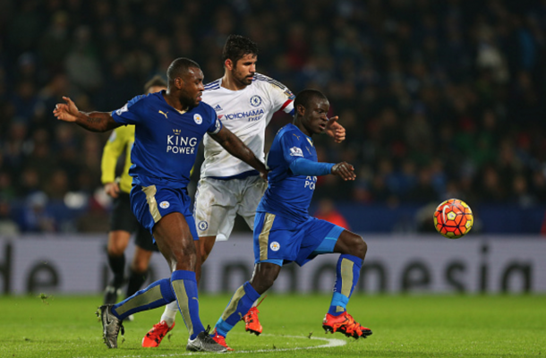 Kante and Morgan have done their fair share of unfashionable work this season. (Photo by Catherine Ivill - AMA/Getty Images)