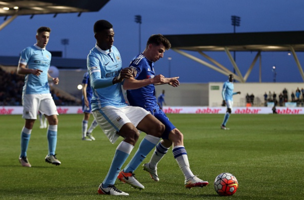 City and Chelsea in action at the club's Academy stadium on Friday night. (Picture: Getty Images)